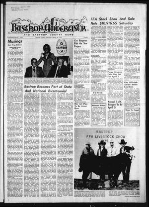 Primary view of object titled 'Bastrop Advertiser and Bastrop County News (Bastrop, Tex.), Vol. [122], No. 3, Ed. 1 Thursday, March 20, 1975'.