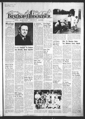 Primary view of Bastrop Advertiser and Bastrop County News (Bastrop, Tex.), Vol. [122], No. 8, Ed. 1 Thursday, April 24, 1975