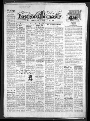 Primary view of object titled 'Bastrop Advertiser and Bastrop County News (Bastrop, Tex.), Vol. [122], No. 18, Ed. 1 Thursday, July 3, 1975'.