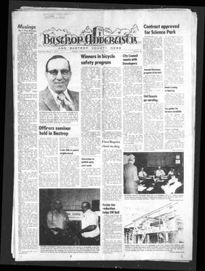 Primary view of object titled 'Bastrop Advertiser and Bastrop County News (Bastrop, Tex.), Vol. [122], No. 42, Ed. 1 Thursday, December 18, 1975'.