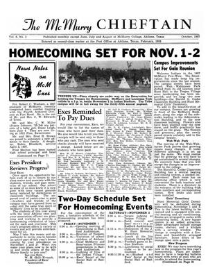 Chieftain, Volume 6, Number 2, October 1957