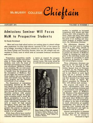 Chieftain, Volume 19, Number 1, January 1971