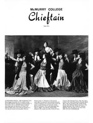 Chieftain, Volume 20, Number 3, Fall 1972