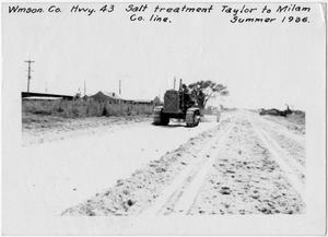 [U.S. Highway 79 Salt-stabilized gravel treatment]