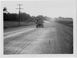 Primary view of object titled '[U.S. Highway 79 Salt-stabilized gravel application]'.