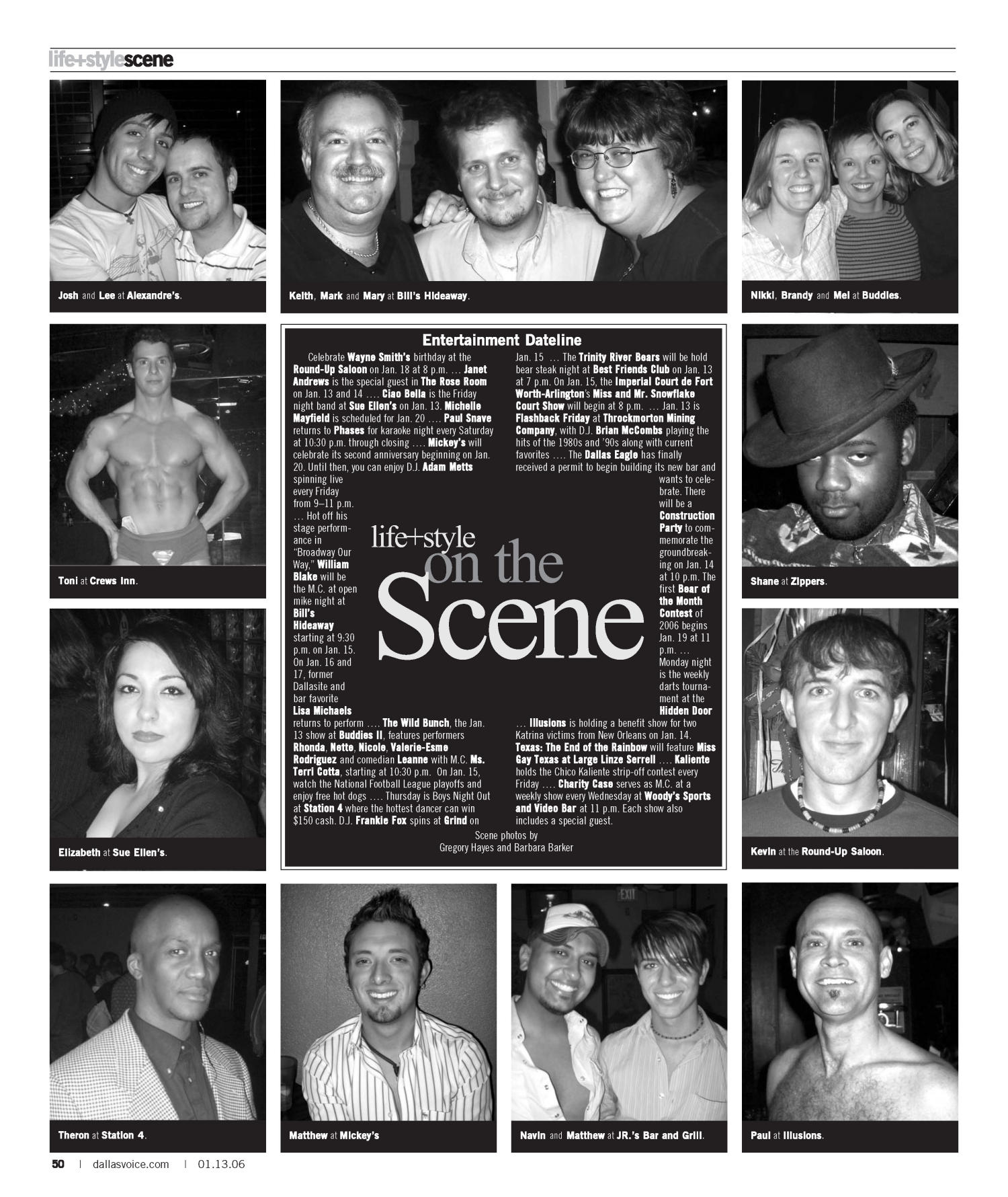 Dallas Voice (Dallas, Tex.), Vol. 22, No. 35, Ed. 1 Friday, January 13, 2006                                                                                                      [Sequence #]: 50 of 60