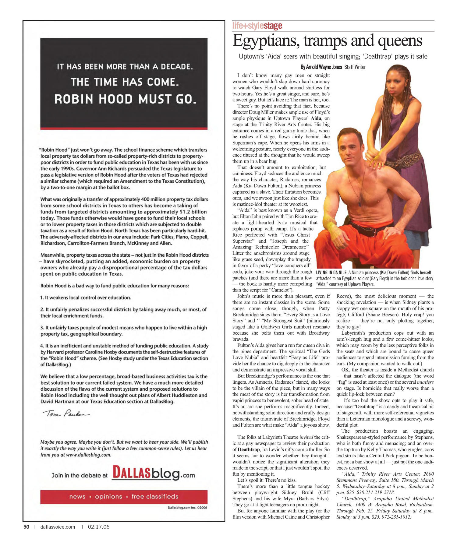 Dallas Voice (Dallas, Tex.), Vol. 22, No. 40, Ed. 1 Friday, February 17, 2006                                                                                                      [Sequence #]: 50 of 72