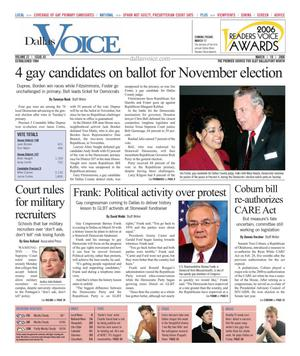 Dallas Voice (Dallas, Tex.), Vol. 22, No. 43, Ed. 1 Friday, March 10, 2006