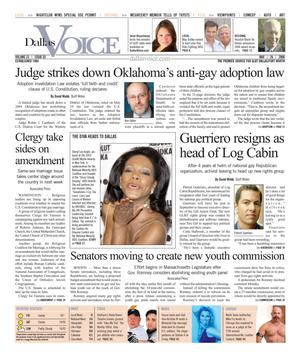 Dallas Voice (Dallas, Tex.), Vol. 23, No. 02, Ed. 1 Friday, May 26, 2006