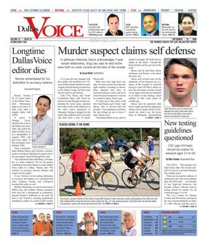 Dallas Voice (Dallas, Tex.), Vol. 23, No. 20, Ed. 1 Friday, September 29, 2006