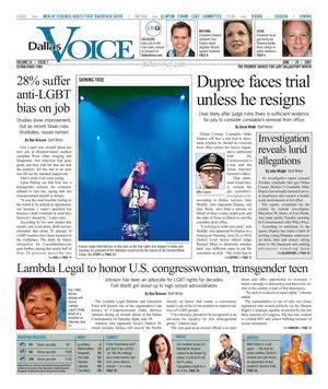 Dallas Voice (Dallas, Tex.), Vol. 24, No. 7, Ed. 1 Friday, June 29, 2007