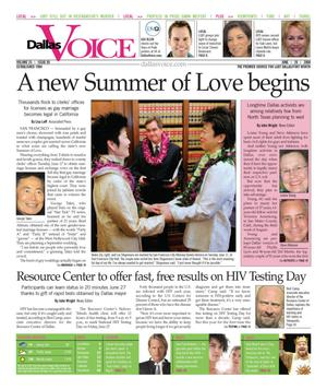 Dallas Voice (Dallas, Tex.), Vol. 25, No. 05, Ed. 1 Friday, June 20, 2008