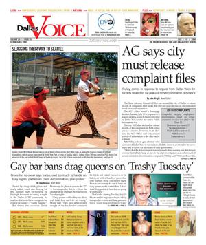 Dallas Voice (Dallas, Tex.), Vol. 25, No. 09, Ed. 1 Friday, July 18, 2008