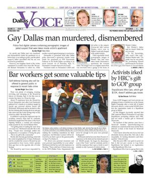 Primary view of object titled 'Dallas Voice (Dallas, Tex.), Vol. 25, No. 17, Ed. 1 Friday, September 12, 2008'.