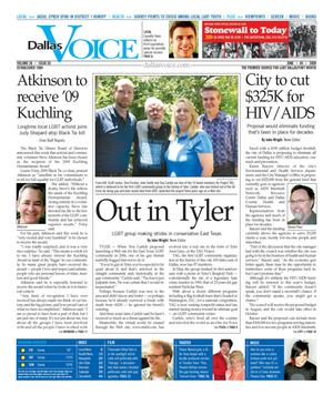 Dallas Voice (Dallas, Tex.), Vol. 26, No. 03, Ed. 1 Friday, June 5, 2009