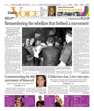 Dallas Voice (Dallas, Tex.), Vol. 26, No. 05, Ed. 1 Friday, June 19, 2009