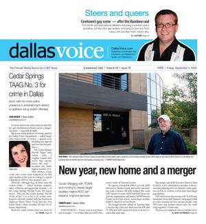 Primary view of object titled 'Dallas Voice (Dallas, Tex.), Vol. 26, No. 16, Ed. 1 Friday, September 4, 2009'.