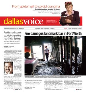 Primary view of object titled 'Dallas Voice (Dallas, Tex.), Vol. 26, No. 17, Ed. 1 Friday, September 11, 2009'.