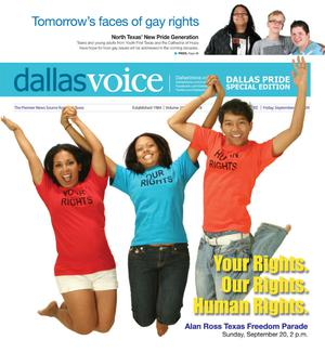 Dallas Voice (Dallas, Tex.), Vol. 26, No. 18, Ed. 1 Friday, September 18, 2009