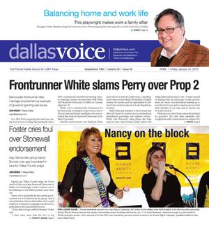 Dallas Voice (Dallas, Tex.), Vol. 26, No. 36, Ed. 1 Friday, January 22, 2010