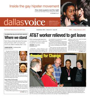 Primary view of object titled 'Dallas Voice (Dallas, Tex.), Vol. 26, No. 38, Ed. 1 Friday, February 5, 2010'.