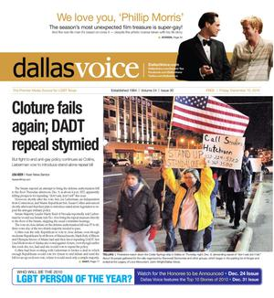 Dallas Voice (Dallas, Tex.), Vol. 24, No. 30, Ed. 1 Friday, December 10, 2010