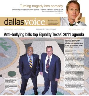 Dallas Voice (Dallas, Tex.), Vol. 27, No. 34, Ed. 1 Friday, January 7, 2011