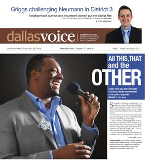 Primary view of object titled 'Dallas Voice (Dallas, Tex.), Vol. 27, No. 37, Ed. 1 Friday, January 28, 2011'.