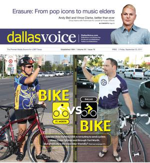 Primary view of object titled 'Dallas Voice (Dallas, Tex.), Vol. 28, No. 19, Ed. 1 Friday, September 23, 2011'.