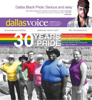 Primary view of object titled 'Dallas Voice (Dallas, Tex.), Vol. 28, No. 20, Ed. 1 Friday, September 30, 2011'.