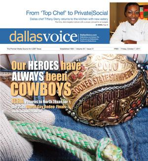 Primary view of object titled 'Dallas Voice (Dallas, Tex.), Vol. 28, No. 21, Ed. 1 Friday, October 7, 2011'.