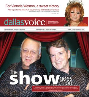 Primary view of object titled 'Dallas Voice (Dallas, Tex.), Vol. 28, No. 35, Ed. 1 Friday, January 13, 2012'.