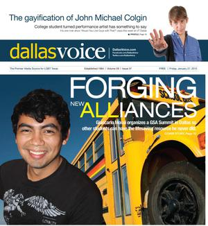 Primary view of object titled 'Dallas Voice (Dallas, Tex.), Vol. 28, No. 37, Ed. 1 Friday, January 27, 2012'.