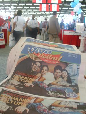 Primary view of object titled '[Programs detailing the events and exhibits at the Dallas Hispanic Expo]'.