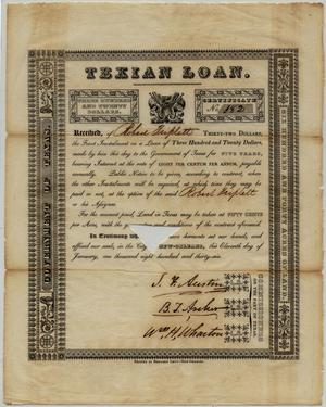Primary view of object titled 'Texian Loan Agreement'.
