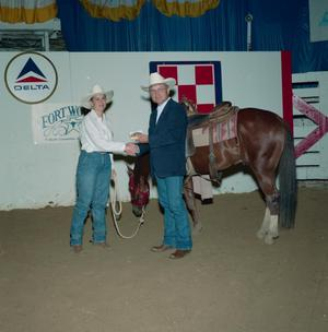 Primary view of object titled 'Cutting Horse Competition: Image 1991_D-140_03'.