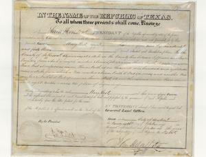 Primary view of object titled 'Land Grant Deed'.
