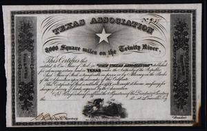 Primary view of object titled '[Texas Association Certificate]'.