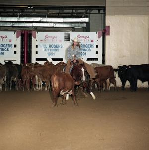 Primary view of object titled 'Cutting Horse Competition: Image 1991_D-16_07'.