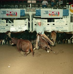 Primary view of object titled '[Cutting Horse Competition: Nita Lil Lena #2]'.