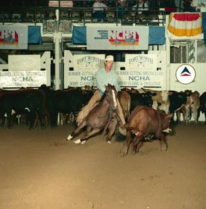 Primary view of object titled '[Cutting Horse Competition: Nita Lil Lena #3]'.