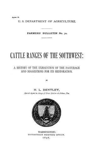 Primary view of object titled 'Cattle Ranges of the Southwest'.