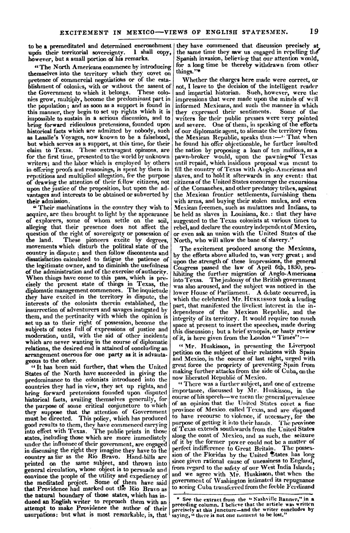 The war in Texas; a review of facts and circumstances, showing that this contest is a crusade against Mexico, set on foot by slaveholders, land speculators, & c. in order to re-establish, extend, and perpetuate the system of slavery and the slave trade.                                                                                                      [Sequence #]: 19 of 64