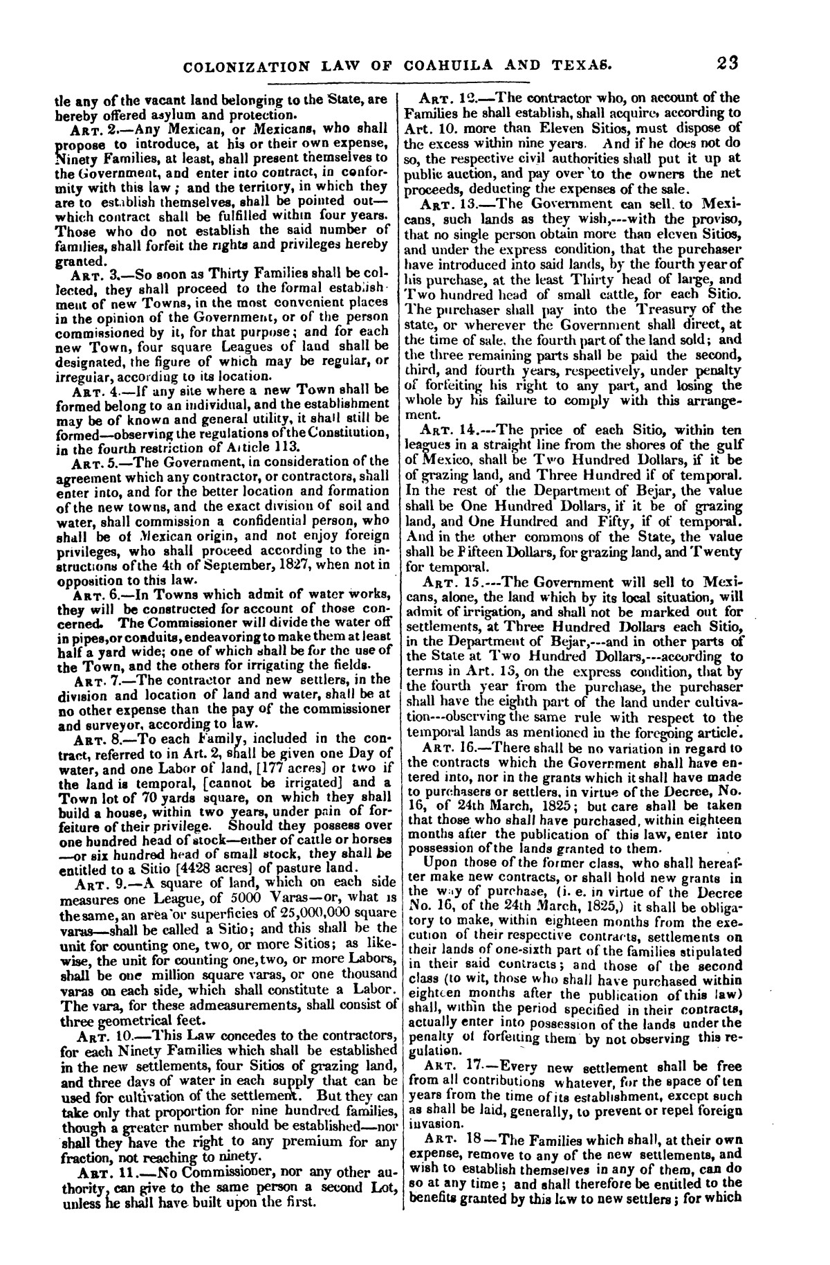 The war in Texas; a review of facts and circumstances, showing that this contest is a crusade against Mexico, set on foot by slaveholders, land speculators, & c. in order to re-establish, extend, and perpetuate the system of slavery and the slave trade.                                                                                                      [Sequence #]: 23 of 64