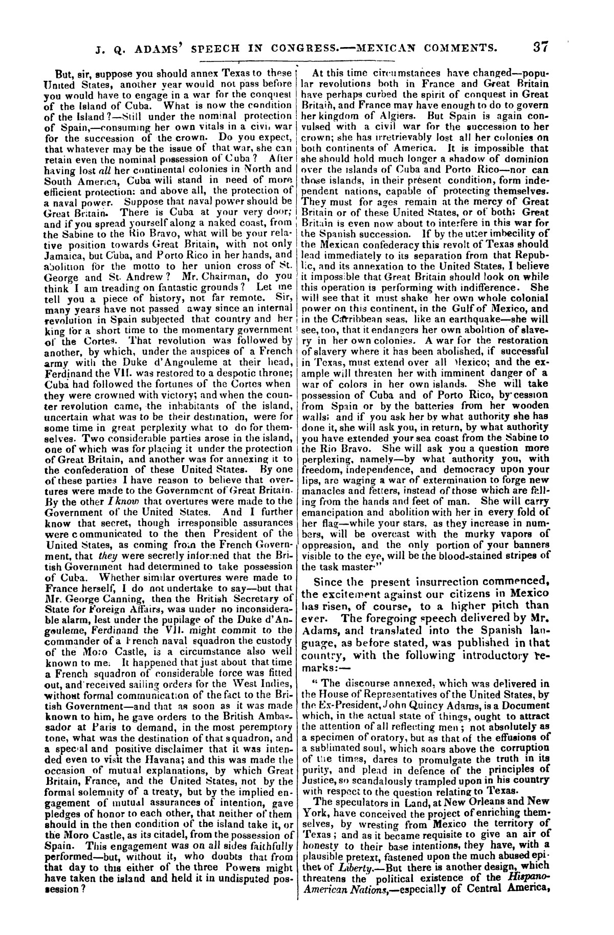 The war in Texas; a review of facts and circumstances, showing that this contest is a crusade against Mexico, set on foot by slaveholders, land speculators, & c. in order to re-establish, extend, and perpetuate the system of slavery and the slave trade.                                                                                                      [Sequence #]: 37 of 64