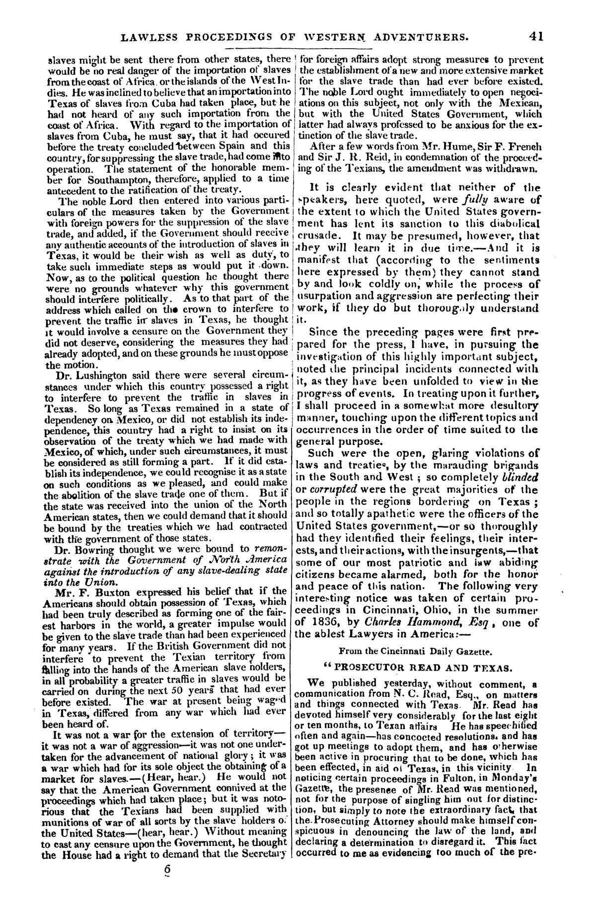 The war in Texas; a review of facts and circumstances, showing that this contest is a crusade against Mexico, set on foot by slaveholders, land speculators, & c. in order to re-establish, extend, and perpetuate the system of slavery and the slave trade.                                                                                                      [Sequence #]: 41 of 64