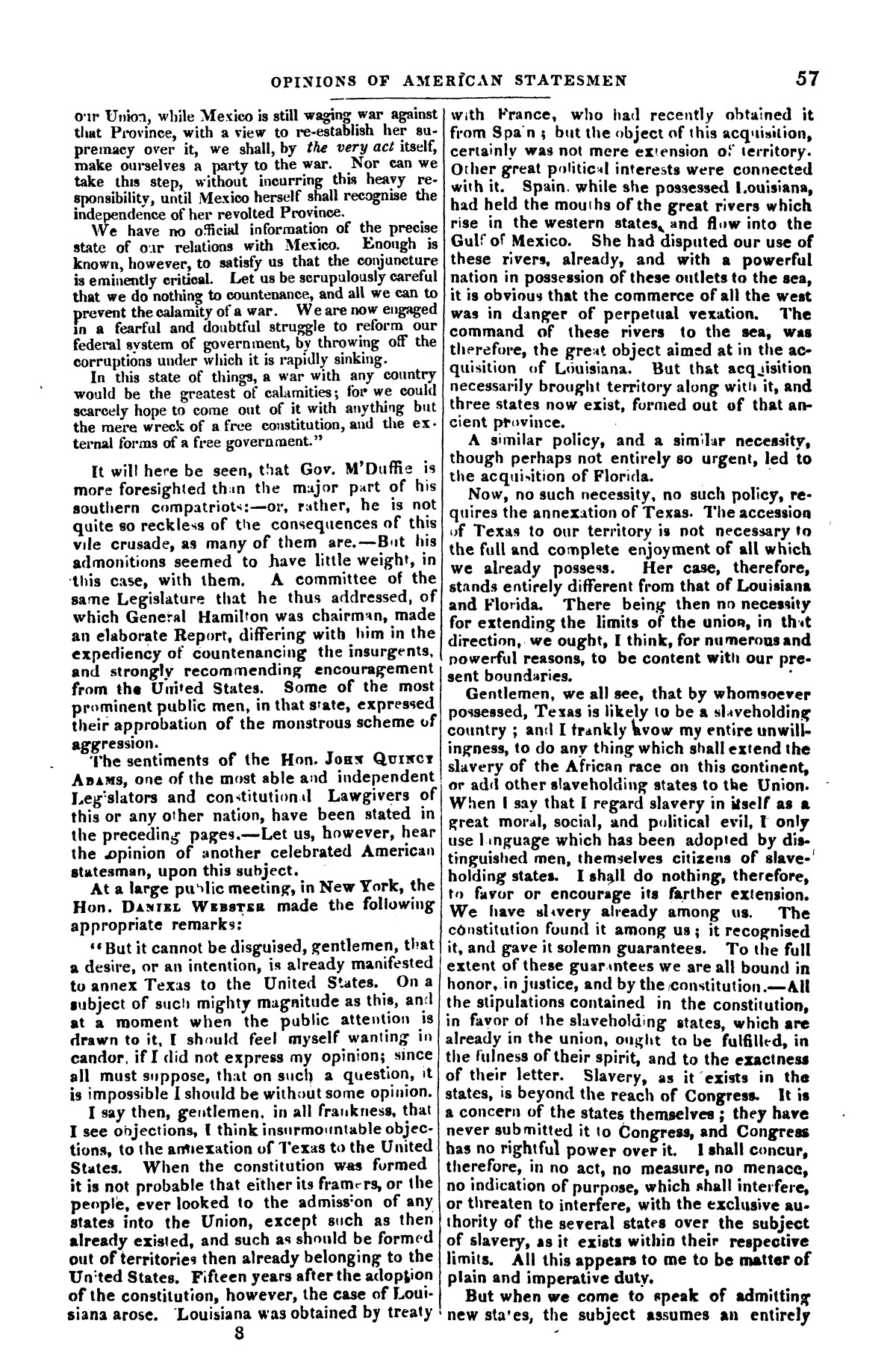 The war in Texas; a review of facts and circumstances, showing that this contest is a crusade against Mexico, set on foot by slaveholders, land speculators, & c. in order to re-establish, extend, and perpetuate the system of slavery and the slave trade.                                                                                                      [Sequence #]: 57 of 64