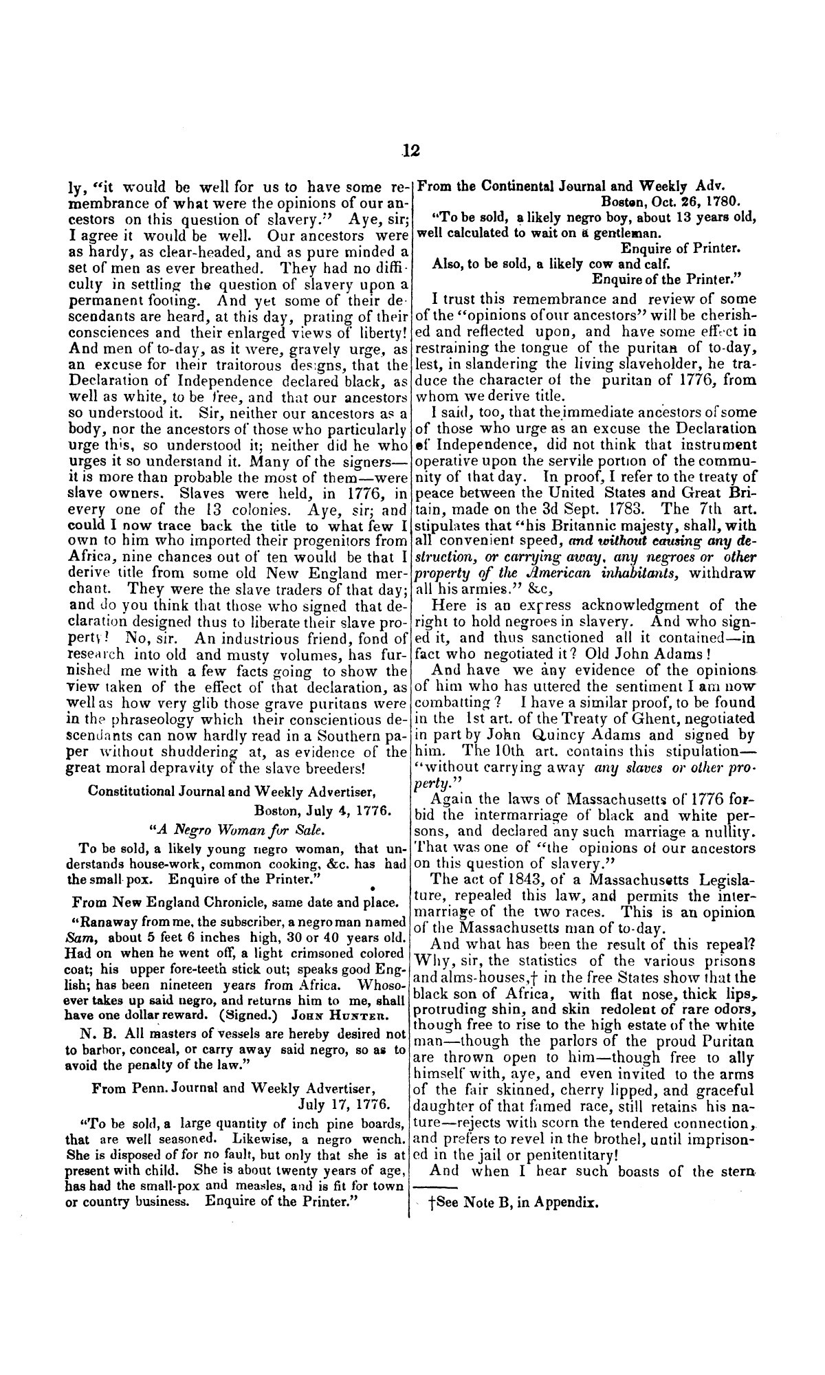 Speech of Hon. Wm. Lowndes Yancey, of Alabama, on the annexation of Texas to the United States, delivered in the House of Representatives, Jan. 7, 1845.                                                                                                      [Sequence #]: 12 of 14