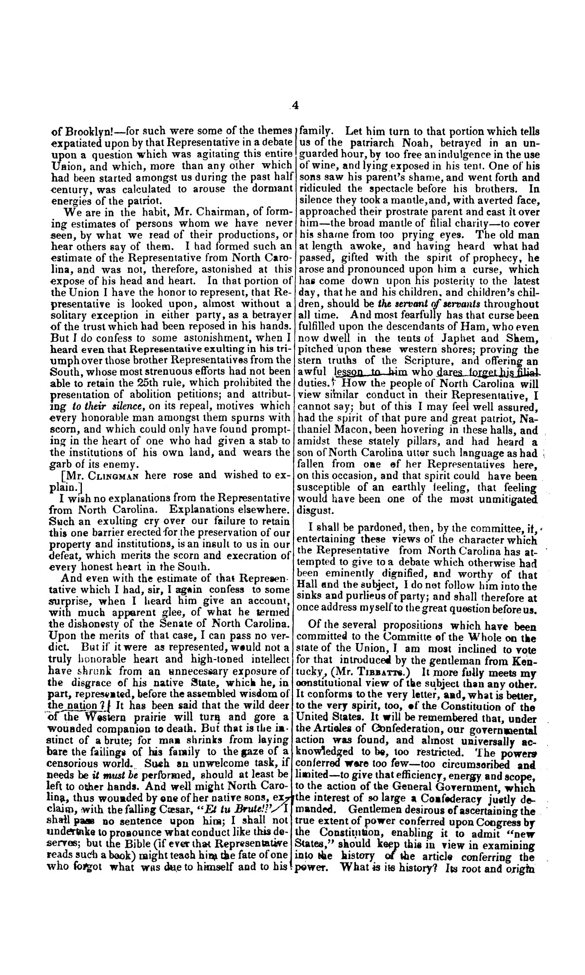 Speech of Hon. Wm. Lowndes Yancey, of Alabama, on the annexation of Texas to the United States, delivered in the House of Representatives, Jan. 7, 1845.                                                                                                      [Sequence #]: 4 of 14