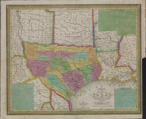 Primary view of object titled 'New map of Texas : with the contiguous American & Mexican states / by J. H. Young.'.